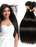 abordables -4 offres groupées Cheveux Péruviens Droit Cheveux humains Tissages de cheveux humains / Bundle cheveux / One Pack Solution 8-28 pouce Tissages de cheveux humains Fabriqué à la machine Meilleure