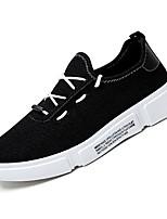 Недорогие -Муж. Комфортная обувь Полотно Осень Кеды Белый / Черный