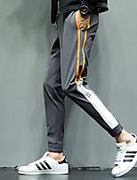baratos -Homens Bolsos 1pç Calças de Corrida - Preto, Cinzento Esportes Estampa Colorida Calças Fitness, Ginásio, Exercite-se Roupas Esportivas Secagem Rápida, Respirável, Redutor de Suor Com Stretch