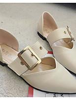 Недорогие -Жен. Комфортная обувь Полиуретан Весна & осень На плокой подошве На плоской подошве Черный / Бежевый