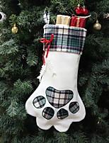 baratos -Meias Finas Férias Não-Tecelado Quadrada Novidades Decoração de Natal