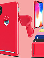 abordables -Coque Pour Apple iPhone X / iPhone 8 Plus Porte Carte / Antichoc Coque Couleur Pleine Flexible TPU pour iPhone X / iPhone 8 Plus / iPhone 8