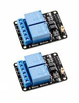 baratos -2 pcs 2 canais dc 5 v módulo de relé com optoacoplador placa de expansão de gatilho de baixo nível para arduino uno r3 mega 2560