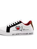 Недорогие -Муж. Комфортная обувь Полотно Весна & осень На каждый день Кеды Белый / Черный / Темно-красный