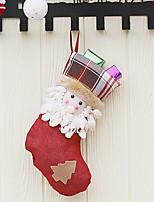 abordables -Medias de Navidad Vacaciones No Tejido Cuadrado Novedades Decoración navideña