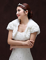 cheap -Short Sleeve Faux Fur Wedding / Party / Evening Women's Wrap With Tiered Shrugs