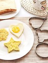 billiga -rostfritt stål omelett ägg fritering mögel älskar blomma runda stjärnformar