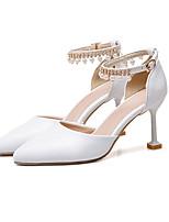 preiswerte -Damen Schuhe PU Herbst Winter D'Orsay und Zweiteiler Hochzeit Schuhe Kitten Heel-Absatz Spitze Zehe Glitter / Schnalle / Quaste Weiß / Rosa / Party & Festivität