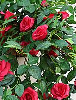 Недорогие -Искусственные Цветы 1 Филиал Классический европейский / Пастораль Стиль Розы Цветы на стену