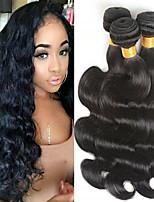 abordables -3 offres groupées Cheveux Indiens / Cheveux Birmans Ondulation naturelle Non Traités / Cheveux humains Cadeaux / Costumes Cosplay / Tissages de cheveux humains 8-28 pouce Tissages de cheveux humains