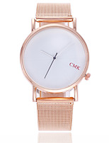 cheap -Women's Wrist Watch Quartz Casual Watch Alloy Band Analog Fashion Minimalist Black / Silver / Rose Gold - Black / Silver Rose Gold / White Black / Rose Gold