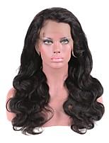 Недорогие -Натуральные волосы Лента спереди Парик Бразильские волосы / Бирманские волосы Естественные кудри Парик 130% Женский / Легко туалетный / Лучшее качество Нейтральный Жен. Длинные