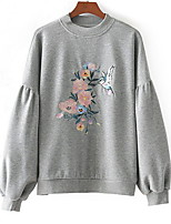 cheap -Women's Basic Sweatshirt - Solid Colored / Floral / Fall