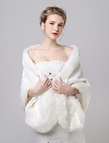 cheap -Sleeveless Faux Fur / Eco friendly cotton Wedding / Party / Evening Women's Wrap With Solid Shawls