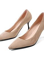 Недорогие -Жен. Комфортная обувь Лакированная кожа Весна Обувь на каблуках На шпильке Черный / Бежевый / Розовый