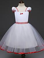 abordables -Princesse Costume de Cosplay Fille Enfant Robes Noël Halloween Carnaval Fête / Célébration Tulle Coton Tenue Blanc Princesse
