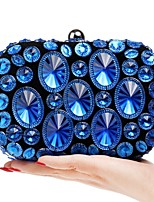 cheap -Women's Bags Polyester / Alloy Evening Bag Crystals / Solid Gold / Purple / Rainbow