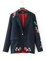 cheap -women's blazer-floral v neck
