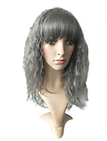 cheap -Synthetic Wig / Cosplay Wig Curly Layered Haircut Synthetic Hair 22 inch Synthetic / Adorable / Hot Sale Gray Wig Women's Long Capless Grey