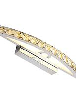 Недорогие -44 см современный 10-ватный туалетный свет водить кристалл составляют зеркало света ac100-240v освещение спальни