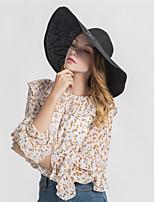 Недорогие -Жен. Классический Соломенная шляпа С принтом / Буквы / Осень / Зима