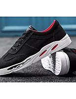 Недорогие -Муж. Комфортная обувь Полотно Весна & осень На каждый день Кеды Белый / Черный / Черный / Красный