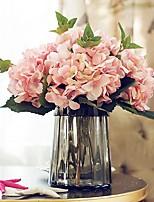 Недорогие -Искусственные Цветы 1 Филиал Классический / Односпальный комплект (Ш 150 x Д 200 см) Свадьба / Пастораль Стиль Гортензии Букеты на стол
