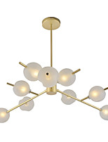 cheap -Northern Europe Chandelier 9-Head Glass Pendant Modern Lights Living Room Bedroom Dining Room G9 Bulb Base