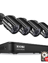 economico -zosi 4ch hd-tvi 720p dvr built-in 1tb hdd con 4pcs hd 1280tvl telecamere cctv resistente alle intemperie indoor / outdoor