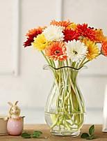 baratos -Flores artificiais 5 Ramo Clássico / Solteiro (L150 cm x C200 cm) Estiloso / Pastoril Estilo Margaridas Flor de Mesa