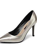 Недорогие -Жен. Обувь Наппа Leather Весна Туфли лодочки Обувь на каблуках На шпильке Черный / Серебряный / Розовый