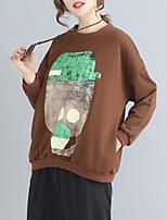 billiga -kvinna långärmad tröja - geometrisk rund hals