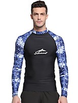 cheap -SBART Men's Diving Rash Guard Quick Dry Nylon Long Sleeve Swimwear Beach Wear Top Solid Colored Diving