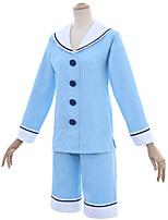 abordables -Inspiré par Cardcaptor Sakura Kinomoto Sakura Manga Costumes de Cosplay Costumes Cosplay Marin Haut / Pantalon Pour Femme Déguisement d'Halloween