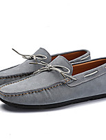 cheap -Men's Moccasin Suede Spring / Fall Loafers & Slip-Ons Dark Blue / Gray / Red
