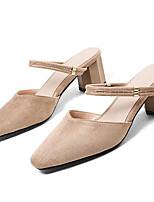 Недорогие -Жен. Замша Лето Туфли лодочки Обувь на каблуках На толстом каблуке Черный