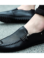 cheap -Men's Comfort Shoes PU(Polyurethane) Spring Casual Loafers & Slip-Ons White / Black / Orange