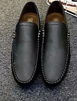 cheap -Men's Moccasin Faux Leather Spring &  Fall Casual Loafers & Slip-Ons Black / Brown / Khaki