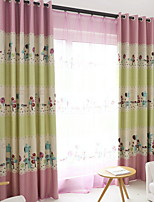 cheap -Kids Curtains Kids Room Geometric / Cartoon Polyester Printed