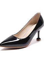 Недорогие -Жен. Балетки Лакированная кожа Лето Обувь на каблуках На шпильке Черный / Красный / Розовый