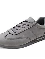 cheap -Men's Pigskin Fall Comfort Sneakers Black / Gray / Red