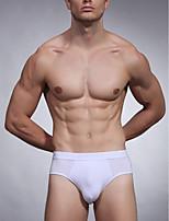 cheap -Men's Briefs Underwear Solid Colored Mid Waist