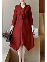 economico -Per donna Linea A Vestito Asimmetrico