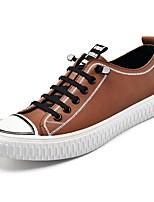 cheap -Men's Canvas / PU(Polyurethane) Fall Comfort Sneakers Black / Brown
