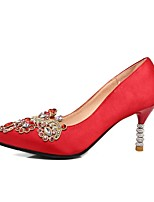 cheap -Women's Shoes Satin Spring & Summer Comfort Wedding Shoes Stiletto Heel Red