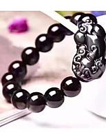 cheap -Men's Obsidian Vintage Style / Beads Strand Bracelet / Vintage Bracelet - Animal Stylish, Vintage, Ethnic Bracelet Black For Daily / Festival