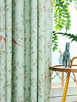 cheap -Curtains Drapes Bedroom Floral / Geometric Polyester Reactive Print