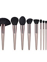 cheap -10-Pack Makeup Brushes Professional Blush Brush / Eyeshadow Brush / Powder Brush Wool Soft / Full Coverage Wooden / Bamboo