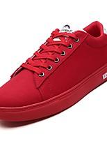 Недорогие -Муж. Полотно / Полиуретан Осень Удобная обувь Кеды Черный / Серый / Красный