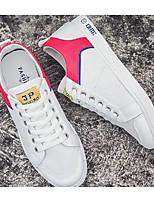 Недорогие -Муж. Комфортная обувь Полотно Весна & осень На каждый день Кеды Белый / синий / Wit En Groen